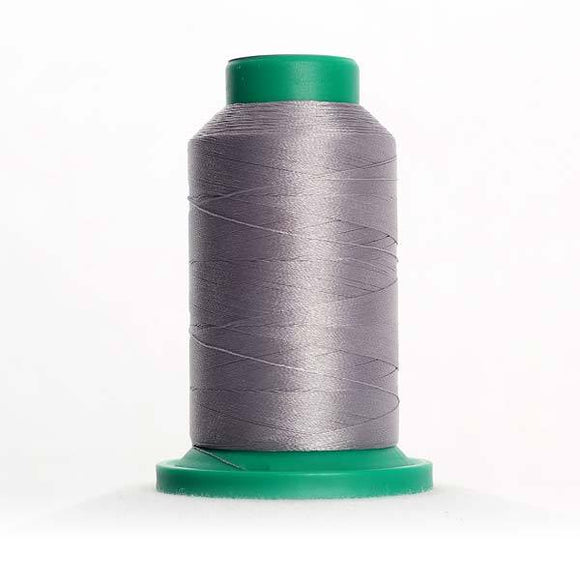 Isacord 5000m/5500yd 40wt solid trilobal polyester thread  number 1972 Silvery Grey