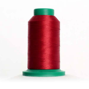 Isacord 5000m/5500yd 40wt solid trilobal polyester thread  number 2022 Rio Red