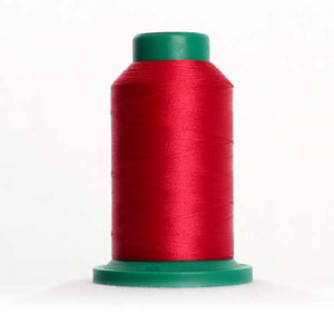 Isacord 5000m/5500yd 40wt solid trilobal polyester thread  number 2101 Coutry Red