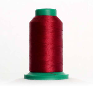 Isacord 5000m/5500yd 40wt solid trilobal polyester thread  number 2113 Cranberry
