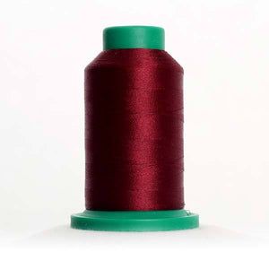 Isacord 5000m/5500yd 40wt solid trilobal polyester thread  number 2115 Beet Red