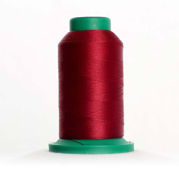 Isacord 5000m/5500yd 40wt solid trilobal polyester thread  number 2123 Bordeaux