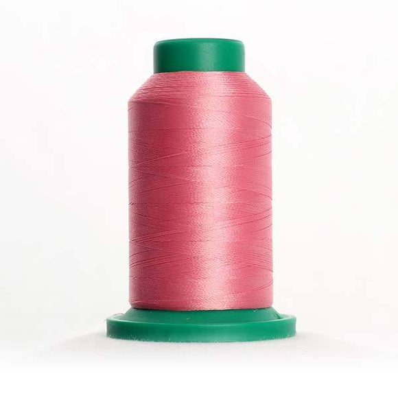 Isacord 5000m/5500yd 40wt solid trilobal polyester thread  number 2152 Heather Pink