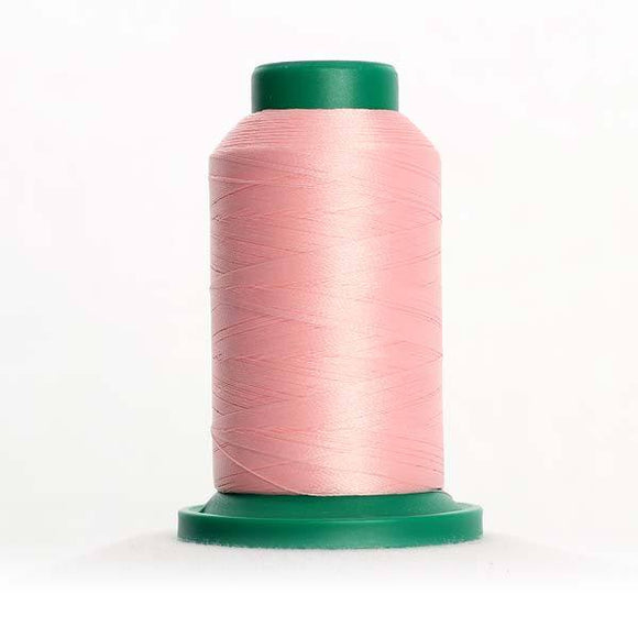 Isacord 5000m/5500yd 40wt solid trilobal polyester thread  number 2160 Iced Pink