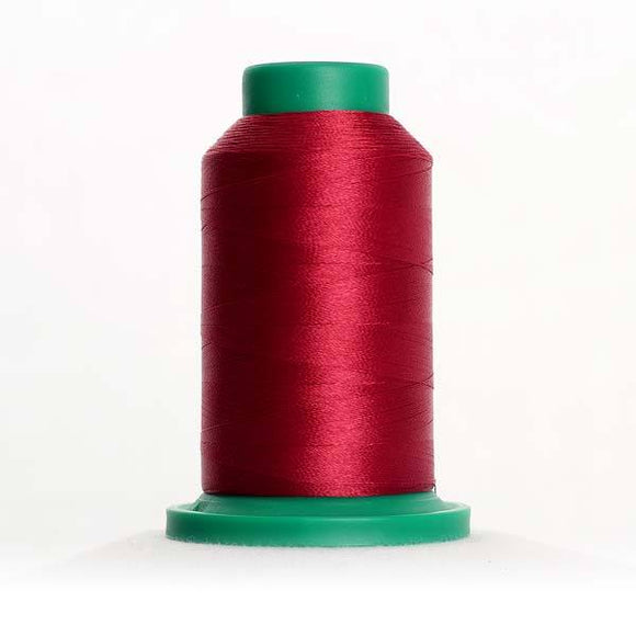 Isacord 1000m/1100yd 40wt solid trilobal polyester thread  number 2211 Pomegranate
