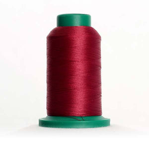 Isacord 5000m/5500yd 40wt solid trilobal polyester thread  number 2222 Burgundy