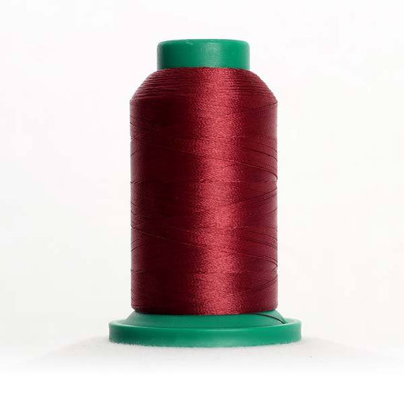 Isacord 5000m/5500yd 40wt solid trilobal polyester thread  number 2224 Claret