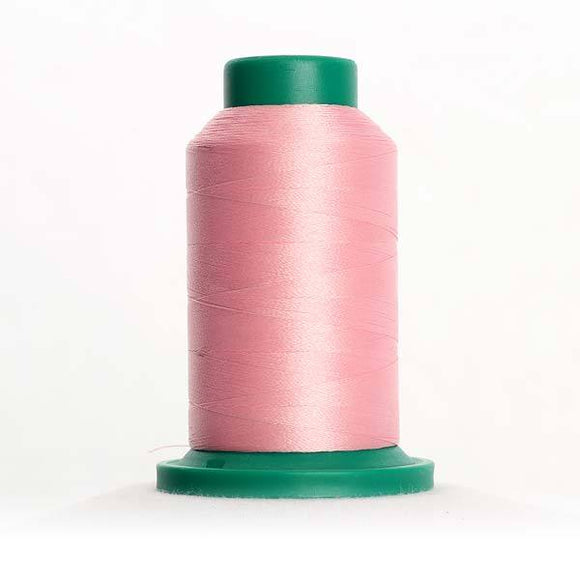 Isacord 5000m/5500yd 40wt solid trilobal polyester thread  number 2250 Petal Pink