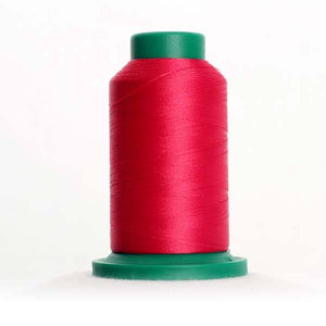 Isacord 5000m/5500yd 40wt solid trilobal polyester thread  number 2300 Bright Ruby
