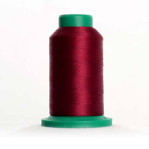Isacord 5000m/5500yd 40wt solid trilobal polyester thread  number 2333 Wine