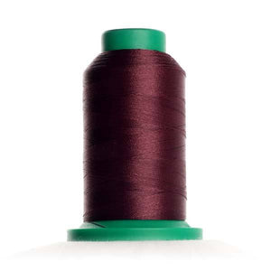 Isacord 5000m/5500yd 40wt solid trilobal polyester thread  number 2336 Maroon