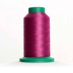 Isacord 5000m/5500yd 40wt solid trilobal polyester thread  number 2504 Plum