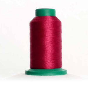 Isacord 5000m/5500yd 40wt solid trilobal polyester thread  number 2506 Cerise