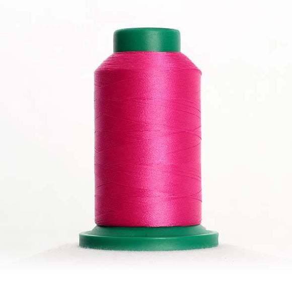 Isacord 5000m/5500yd 40wt solid trilobal polyester thread  number 2508 Hot Pink