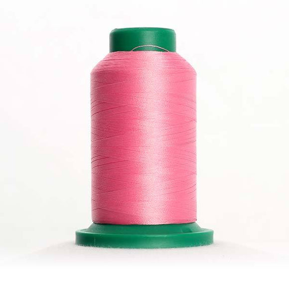 Isacord 5000m/5500yd 40wt solid trilobal polyester thread  number 2560 Azalea Pink