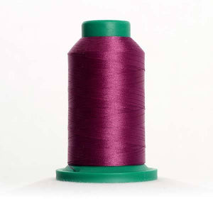 Isacord 5000m/5500yd 40wt solid trilobal polyester thread  number 2600 Dusty Grape