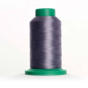 Isacord 5000m/5500yd 40wt solid trilobal polyester thread  number 2674 Steel