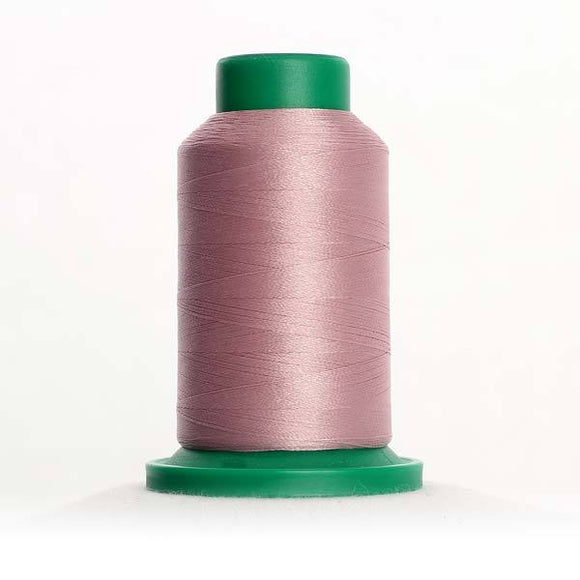 Isacord 1000m/1100yd 40wt solid trilobal polyester thread  number 2762 Misty Rose