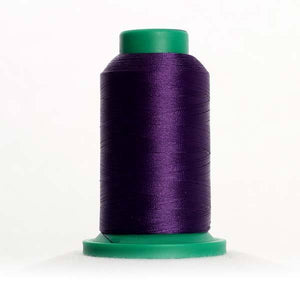 Isacord 5000m/5500yd 40wt solid trilobal polyester thread  number 3114 Purple Twist
