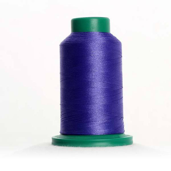 Isacord 5000m/5500yd 40wt solid trilobal polyester thread  number 3210 Blueberry