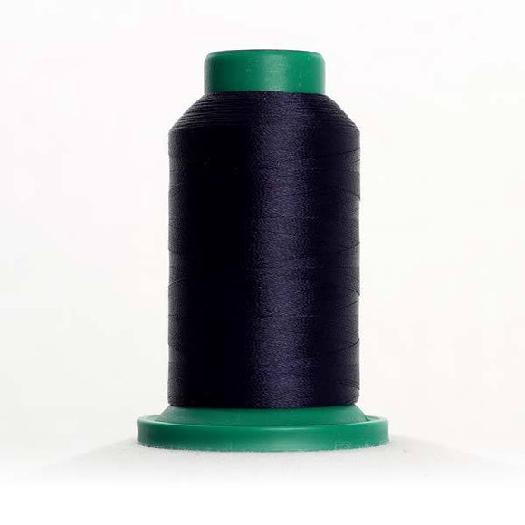 Isacord 5000m/5500yd 40wt solid trilobal polyester thread  number 3355 Dark Indigo