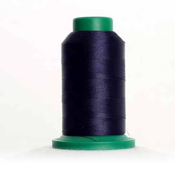 Isacord 1000m/1100yd 40wt solid trilobal polyester thread  number 3363 Midnight Blue