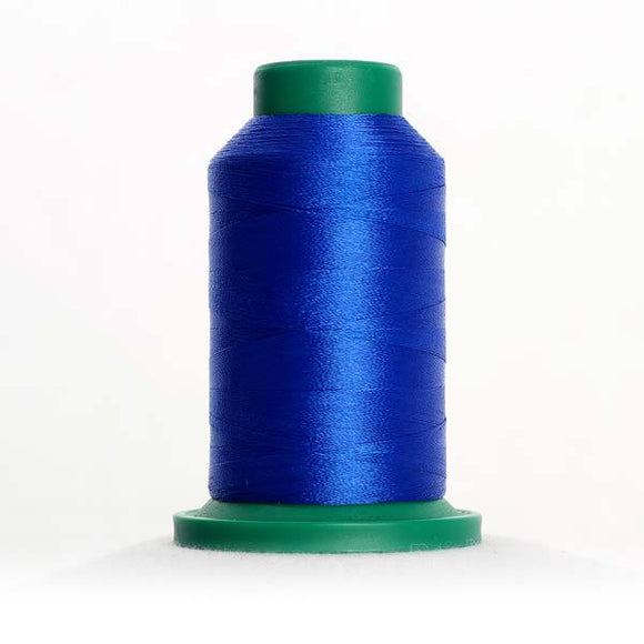 Isacord 5000m/5500yd 40wt solid trilobal polyester thread  number 3510 Electric Blue
