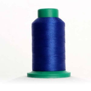 Isacord 5000m/5500yd 40wt solid trilobal polyester thread  number 3544 Sapphire