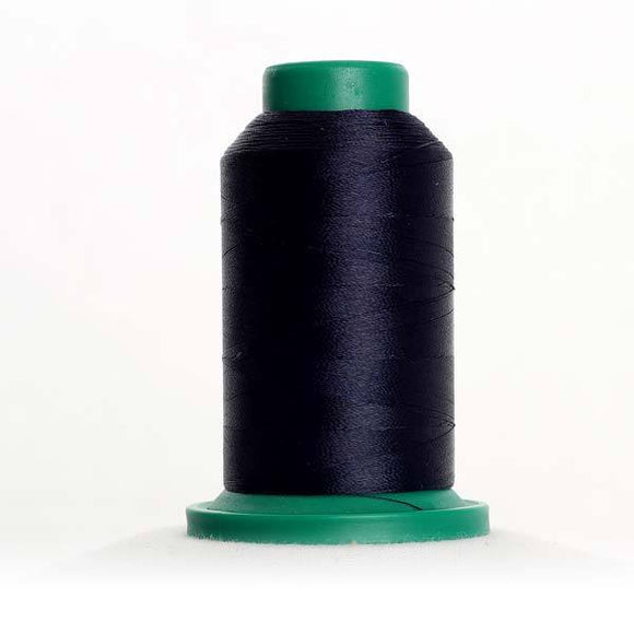Isacord 5000m/5500yd 40wt solid trilobal polyester thread  number 3554 Navy