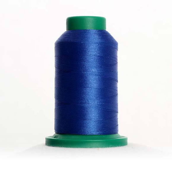 Isacord 5000m/5500yd 40wt solid trilobal polyester thread  number 3600 Nordic Blue