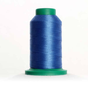 Isacord 5000m/5500yd 40wt solid trilobal polyester thread  number 3620 Marine Blue