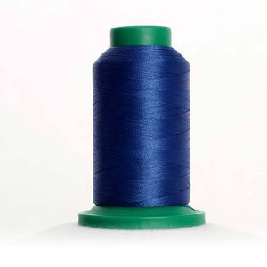 Isacord 5000m/5500yd 40wt solid trilobal polyester thread  number 3622 Imperial Blue