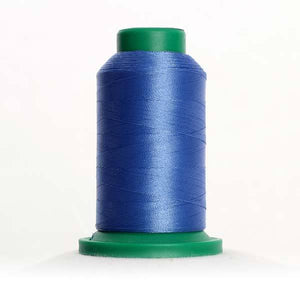 Isacord 1000m/1100yd 40wt solid trilobal polyester thread  number 3631 Tufts Blue