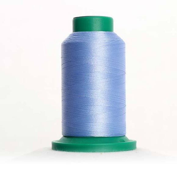 Isacord 5000m/5500yd 40wt solid trilobal polyester thread  number 3640 Lake Blue
