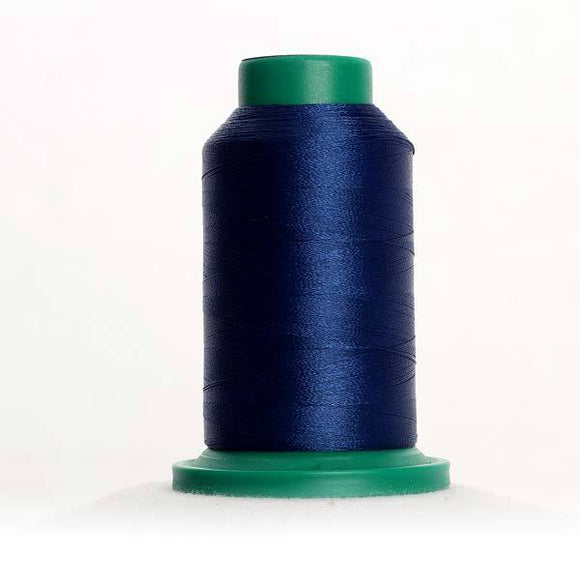 Isacord 5000m/5500yd 40wt solid trilobal polyester thread  number 3644 Royal Navy