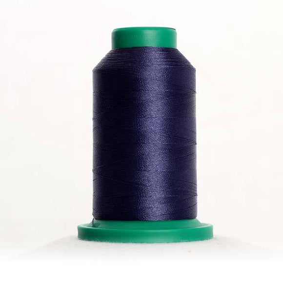 Isacord 1000m/1100yd 40wt solid trilobal polyester thread  number 3645 Prussian Blue