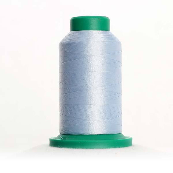 Isacord 5000m/5500yd 40wt solid trilobal polyester thread  number 3650 Ice Cap