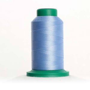 Isacord 5000m/5500yd 40wt solid trilobal polyester thread  number 3652 Baby Blue