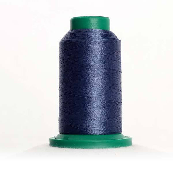 Isacord 5000m/5500yd 40wt solid trilobal polyester thread  number 3654 Bue Shadow