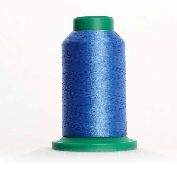 Isacord 5000m/5500yd 40wt solid trilobal polyester thread  number 3711 Dolphin Blue