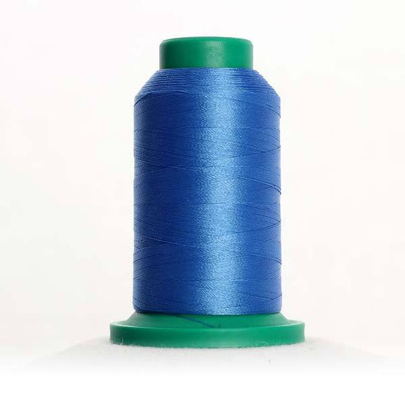 Isacord 1000m/1100yd 40wt solid trilobal polyester thread  number 3722 Empire Blue