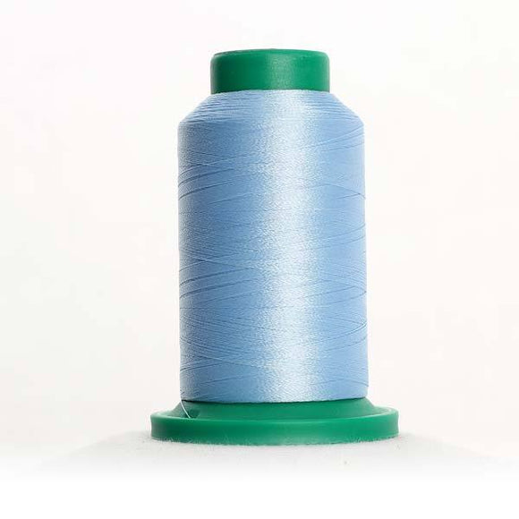 Isacord 5000m/5500yd 40wt solid trilobal polyester thread  number 3730 Something Blue