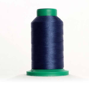 Isacord 5000m/5500yd 40wt solid trilobal polyester thread  number 3743 Harbor