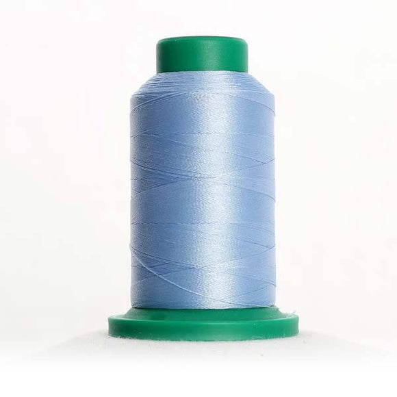 Isacord 5000m/5500yd 40wt solid trilobal polyester thread  number 3761 Winter Sky