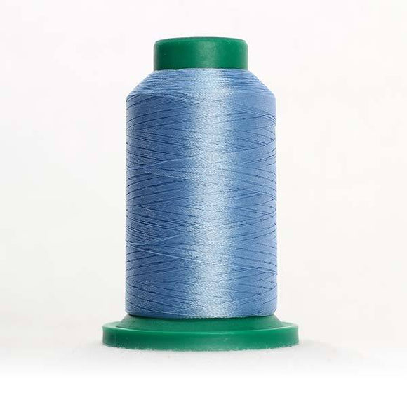 Isacord 1000m/1100yd 40wt solid trilobal polyester thread  number 3762 Country Blue