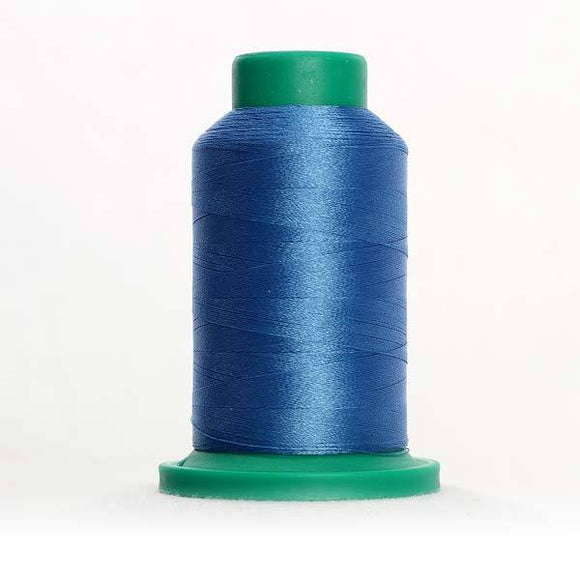 Isacord 5000m/5500yd 40wt solid trilobal polyester thread  number 3810 Laguna