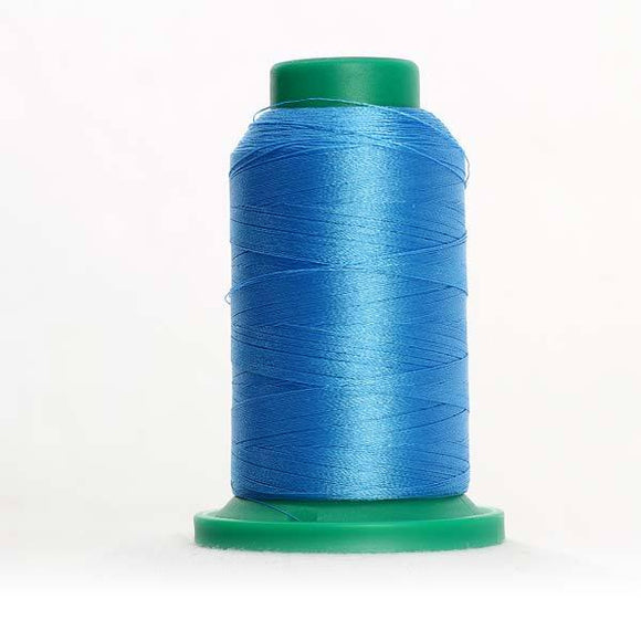 Isacord 5000m/5500yd 40wt solid trilobal polyester thread  number 3815 Reef Blue