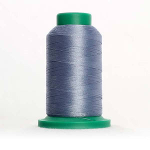 Isacord 5000m/5500yd 40wt solid trilobal polyester thread  number 3853 Ash Blue