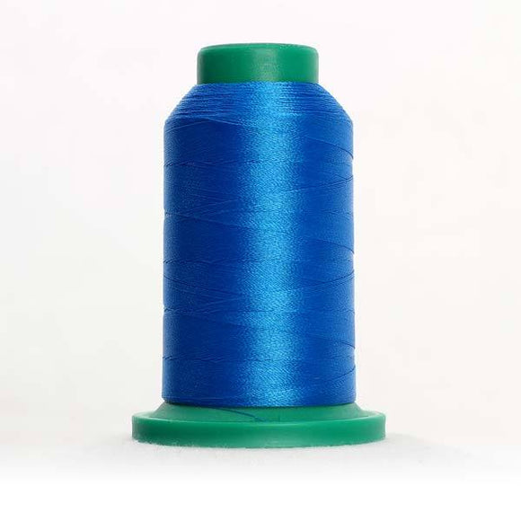 Isacord 5000m/5500yd 40wt solid trilobal polyester thread  number 3900 Cerulean