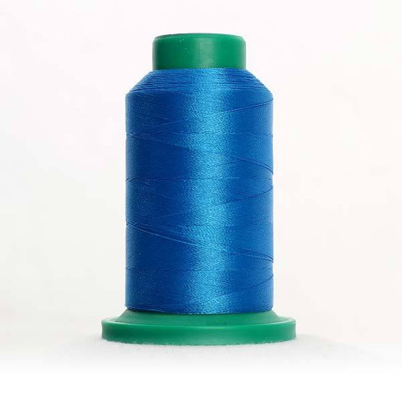 Isacord 5000m/5500yd 40wt solid trilobal polyester thread  number 3901 Tropical Blue